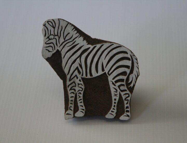 Zebra Stamp Wooden Block – Hand Carved India
