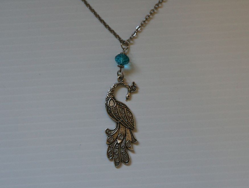 peacock necklace pendant