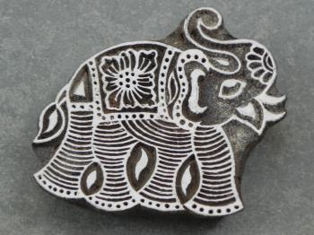 Elephant Wood Block Printing Stamp