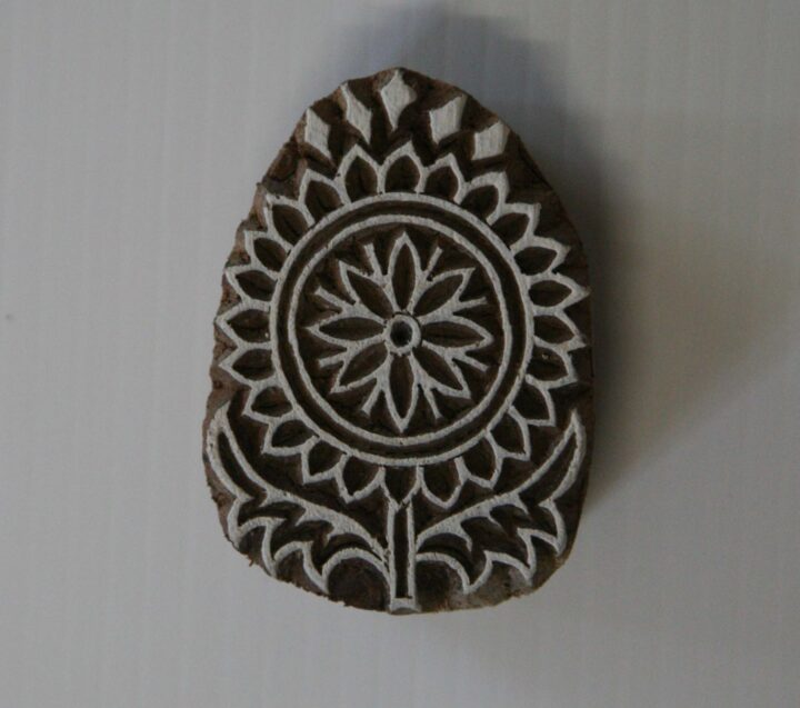 Indian Flower Stamp - Wood Block