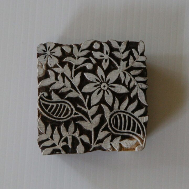 Square Floral Stamp