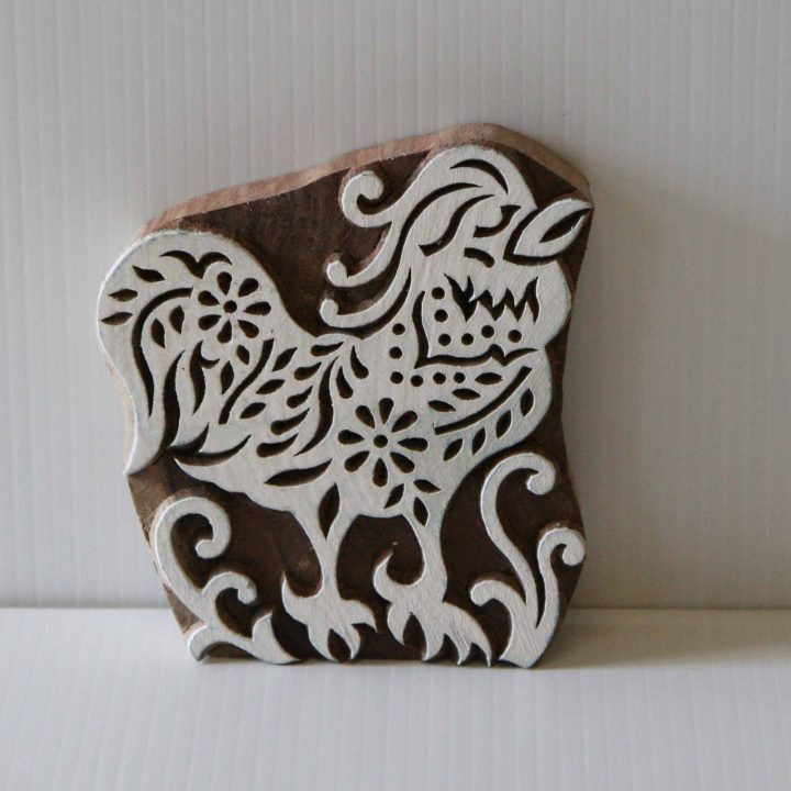Wooden Stamp - Rooster Indian Textile Wood Block Printing Stamp