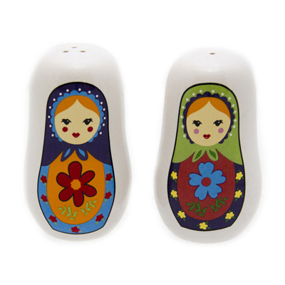 Russian Doll S&P - Babushka Salt and Pepper Shakers