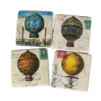 Vintage Balloon Fridge Magnets