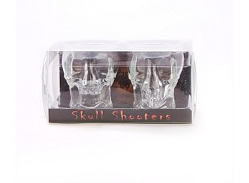 Skull Shot Glasses Novelty Shooters - Set of 2
