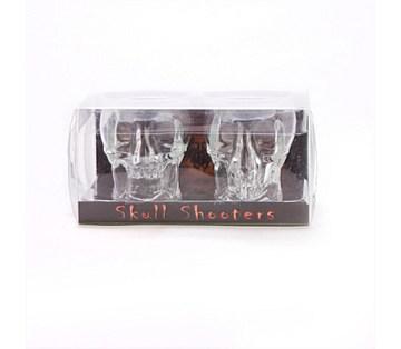 Skull Shot Glasses Novelty Shooters - Set of 2