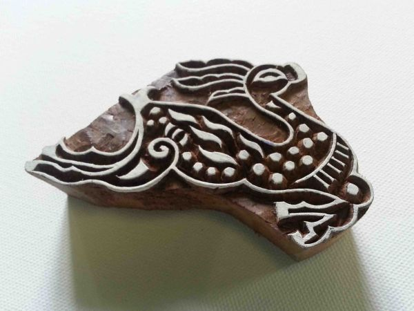 Indian Wood Stamp - Elk Wood Block Printing - Hand Carved Stamp - #3