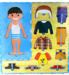 Boy Puzzle Wooden Dress Up