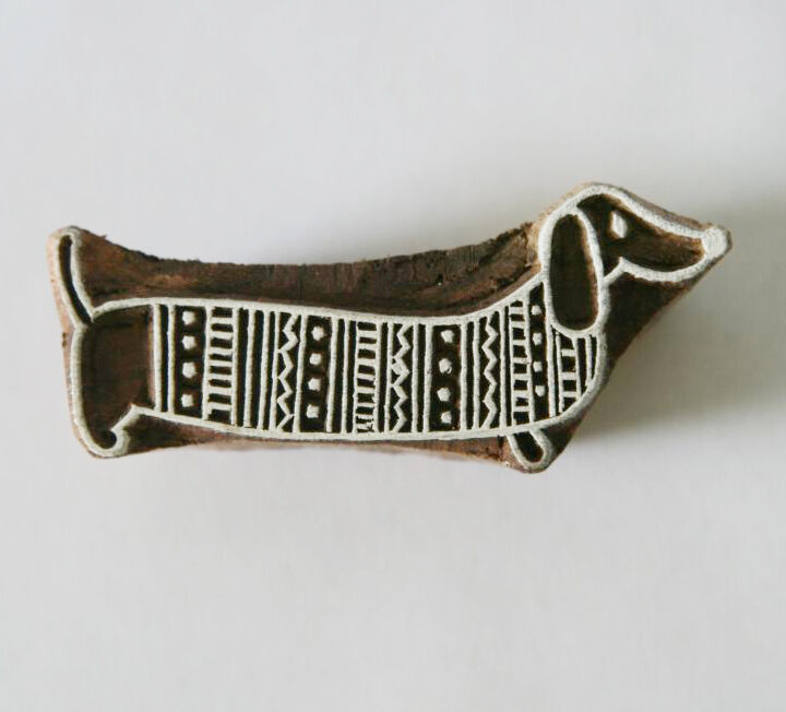Dachshund Dog Stamp - Indian Hand Carved Wood Block