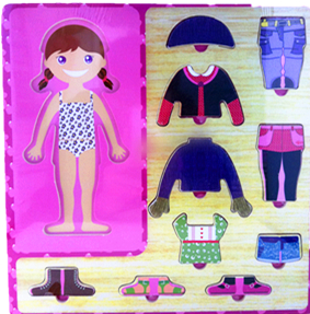 Girl Puzzle Wooden Dress Up