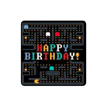 Pacman Happy Birthday Card