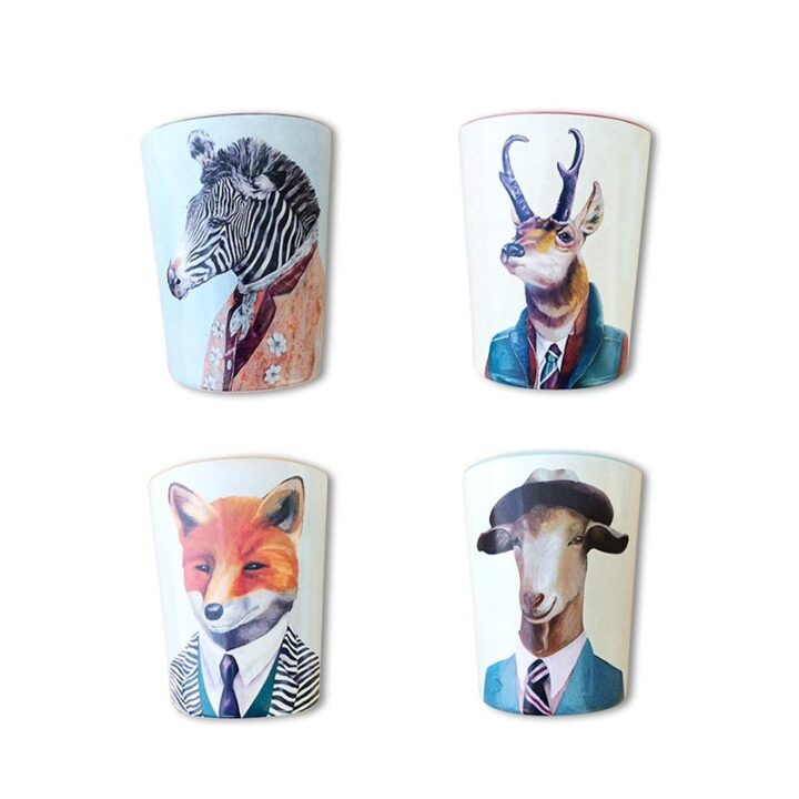 Animal Melamine Cup Set