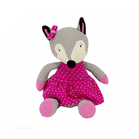Pink Fox Plush Toy