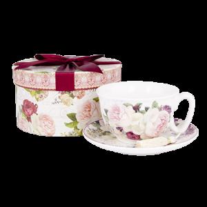Vintage Rose Cup & Saucer
