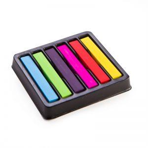hair chalk rainbow