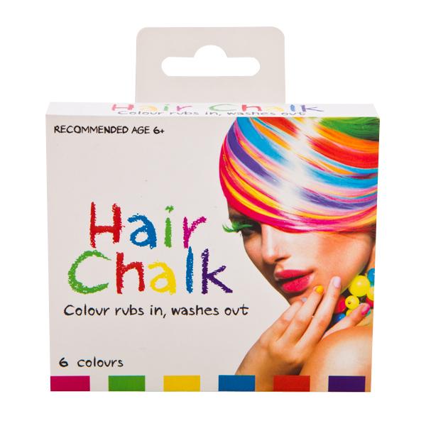 rainbow hair chalk