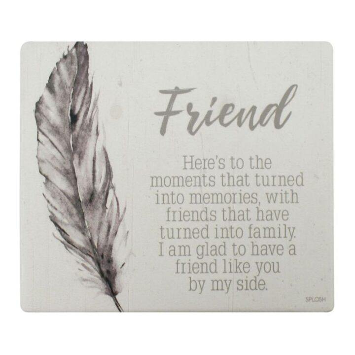 Friend Quote Board Plaque