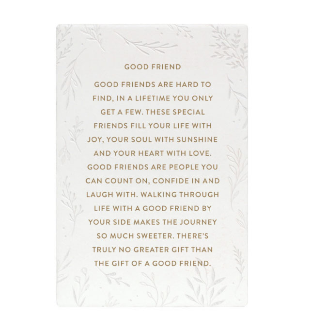 Good Friend Gift Quote Plaque