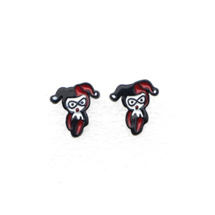 Harley Quinn Earrings - Superhero Earrings