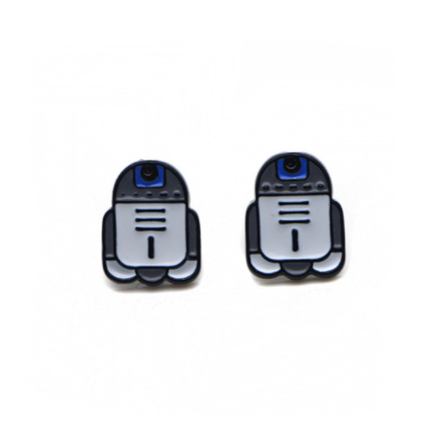 R2D2 Star Wars Earrings - Superhero Earring Studs