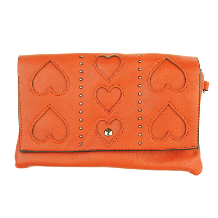 Red Heart Clutch Bag