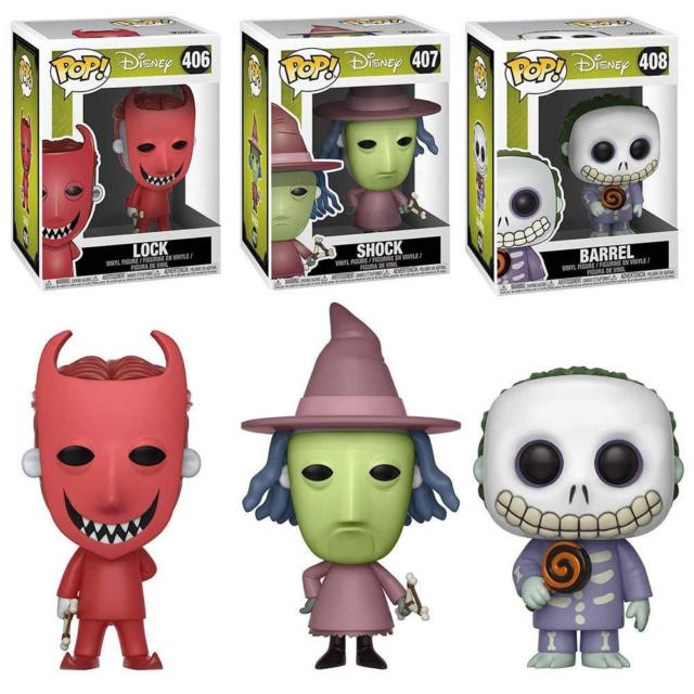 Funko Pop! Nightmare Before Christmas LOCK SHOCK BARREL - Pop Set of 3