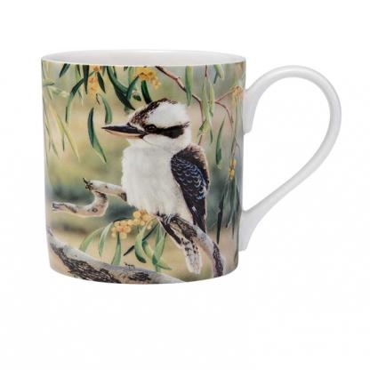 Kookaburra Mug Australian Bird & Flora