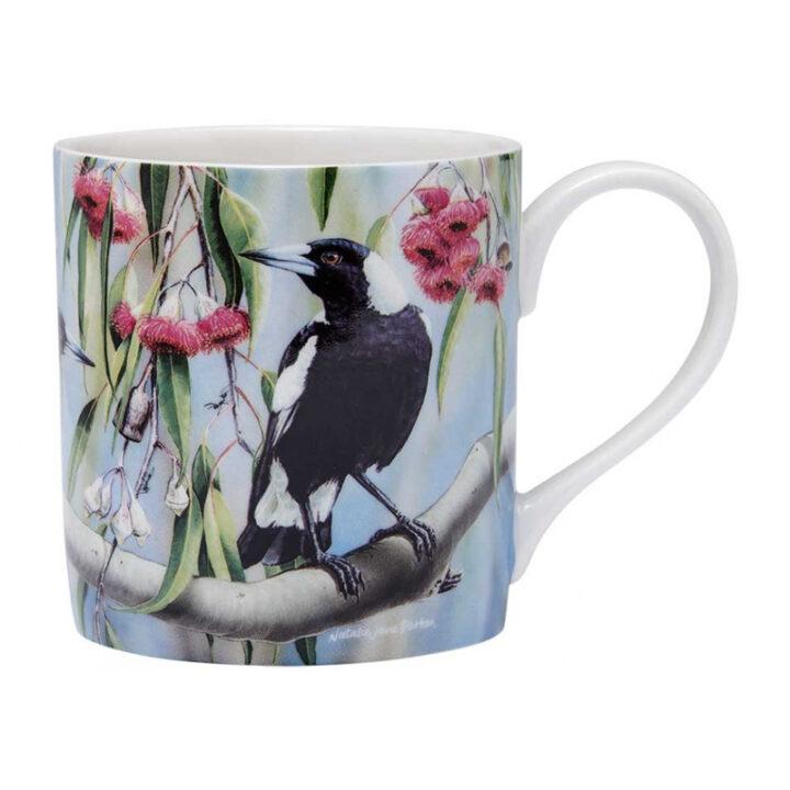 Magpie Mug Australian Bird & Flora