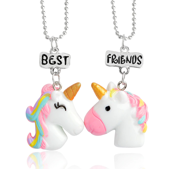 Unicorn Best Friends Necklace Set