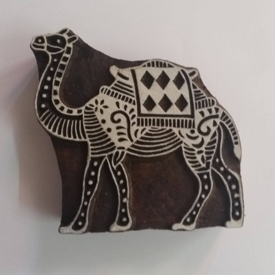 Camel Wood Stamp