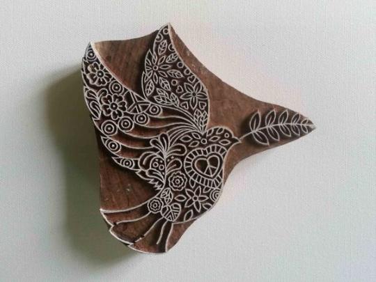 Dove Wood Block Printing Stamp