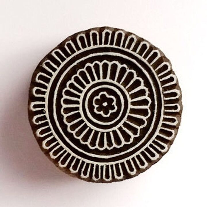 Flower Mandala Stamp - Wooden Stamps - Wood Block Printing