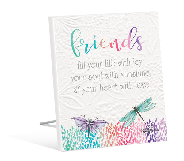 Friends Quote Gift Plaque - Dragonflies - Kelly Lane