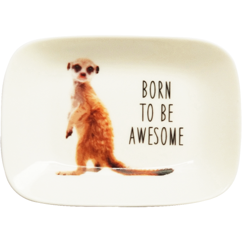 Meerkat Trinket Dish - Born To be Awesome