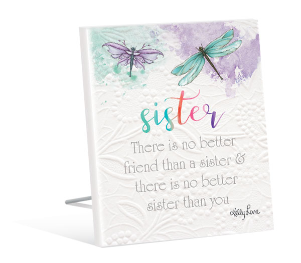 Sister Quote Plaque - Dragonflies