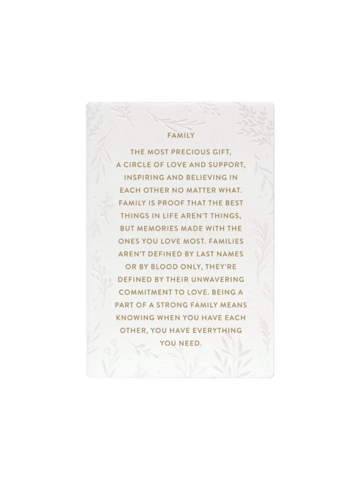 Family Quote Gift Plaque