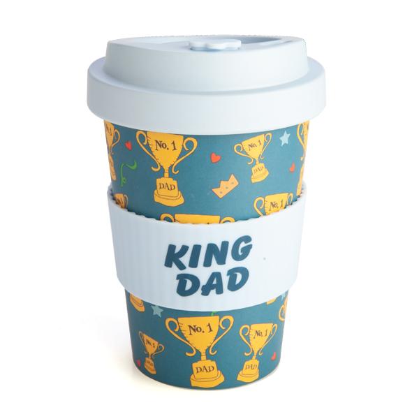 King Dad Travel Mug Eco Bamboo Keep Cup