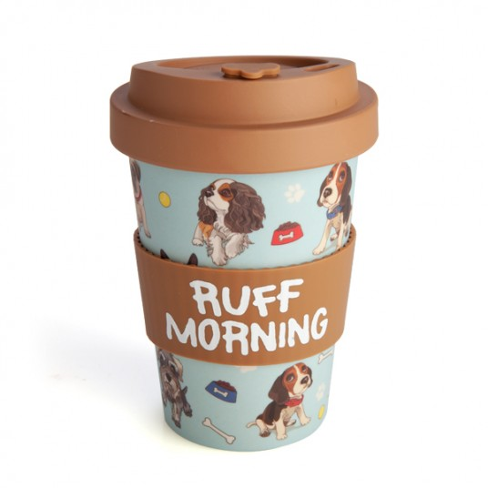 ruff morning Dog keep cup travel mug