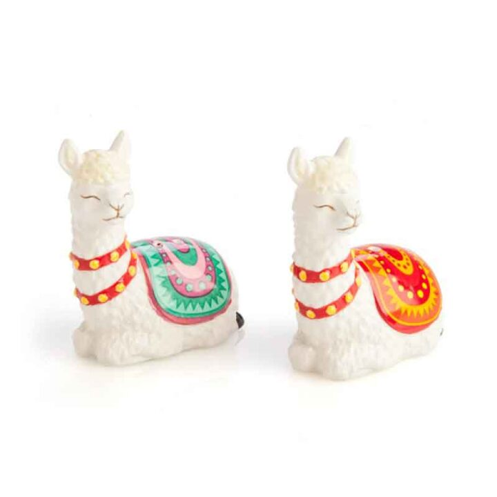 Alpaca Salt and Pepper Shakers - Alpaca Gift