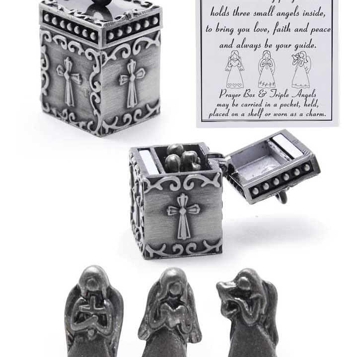 Three Angels Prayer Box - Keepsake