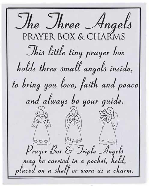angels prayer box keepsake note