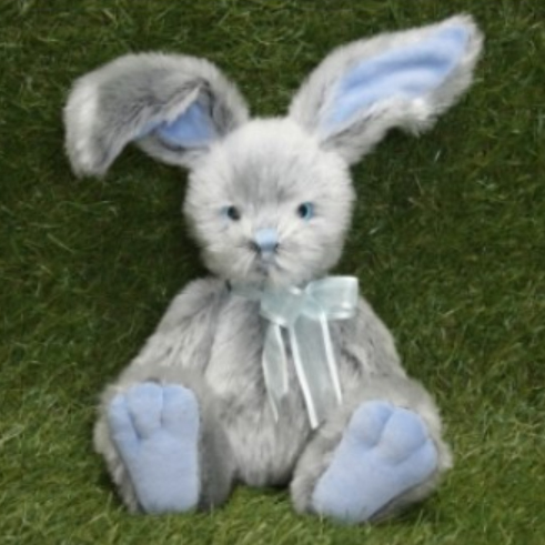 Rabbit Plush Toy - Easter Gift - Bunny - Blue