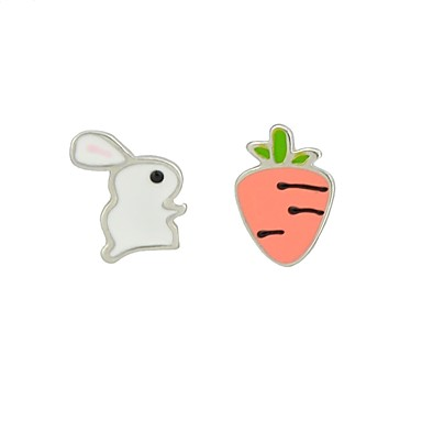 Bunny Earring Studs - Rabbit / Carrot - Easter Gift