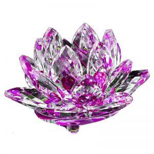 Glass Lotus Flower Purple