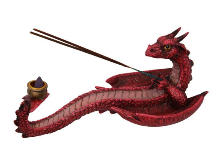 Dragon Incense Holder - Red