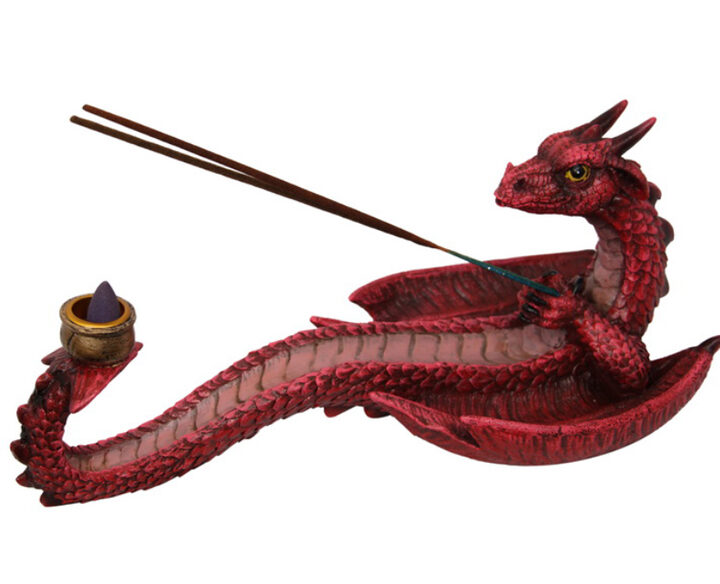 Dragon Incense Holder - Red