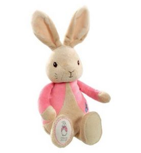 Flopsy Rabbit Plush Rattle - Easter Gift - Pink