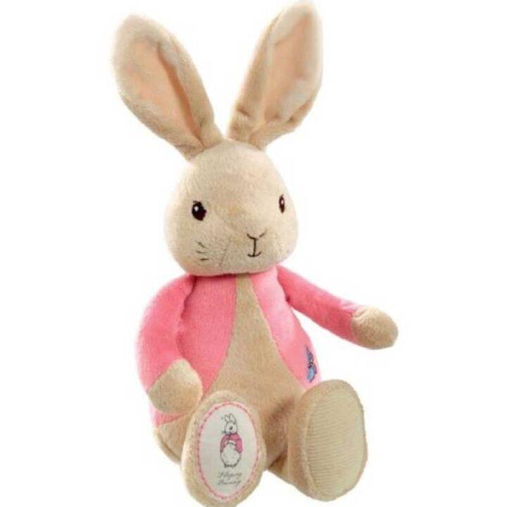Flopsy Rabbit Plush Rattle - Easter Gift - Pink