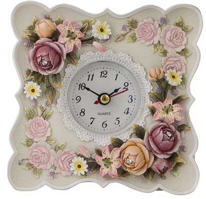 Flower Desk Tabletop Clock