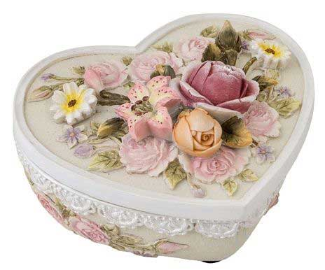 Floral Heart Shaped Box